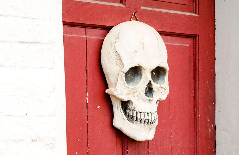 Halloween-Türdekoration: Einfache Halloween-Kränze zum Nachbasteln