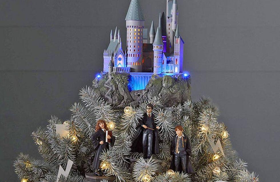 Les fans de Harry Potter peuvent désormais s'offrir un véritable sapin de Noël Poudlard