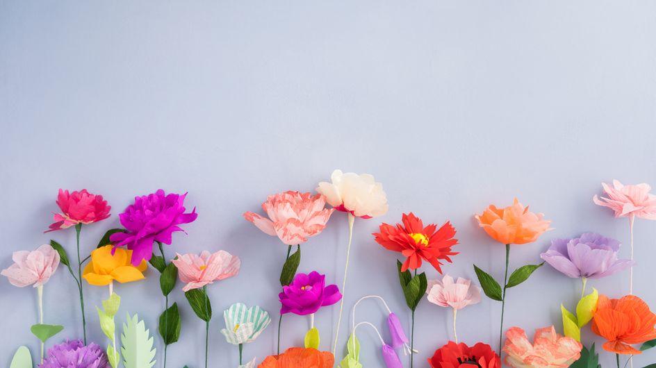 Cómo hacer flores de papel paso a paso