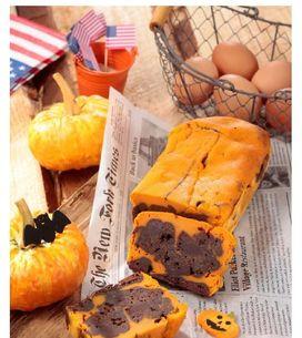 15 minutes pour préparer mon cake choco-potiron d'Halloween