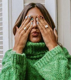 Unghie Mismatched: le nail art più colorate dell'autunno 2019