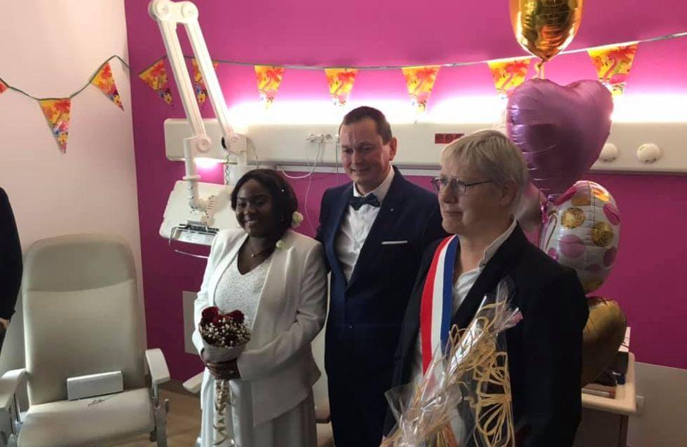 A Calais, un couple se marie à la maternité et ça fait chaud au cœur ! (photos)