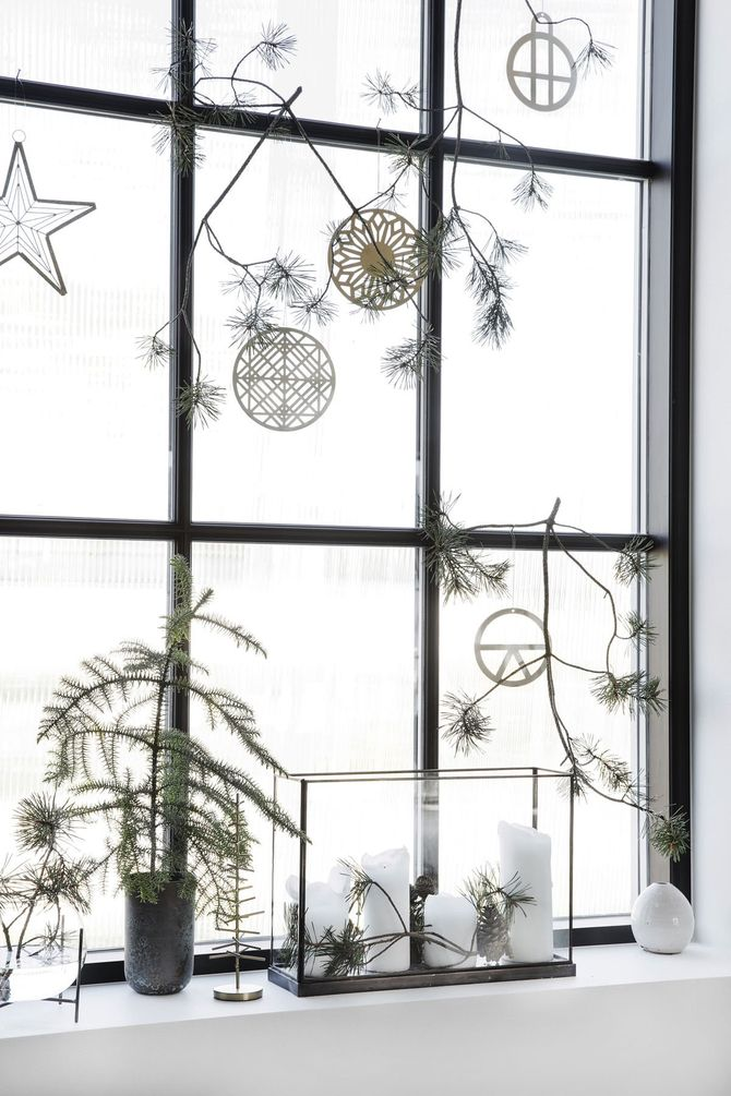Déco fenêtres de Noël