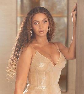Beyoncé étincelante en robe à sequins dorée