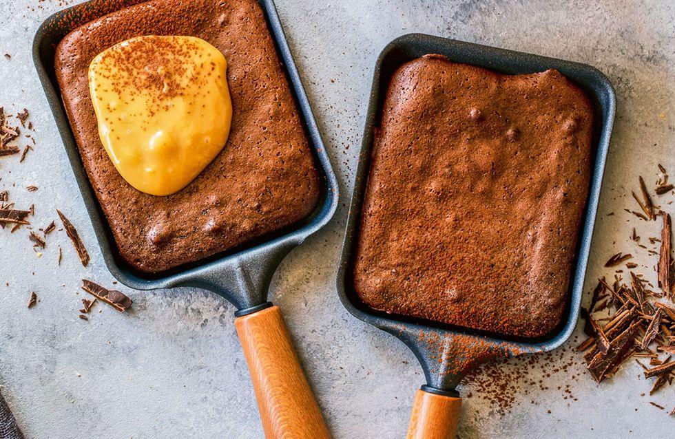 Süßes Raclette: Einfaches Silvester-Dessert im Pfännchen