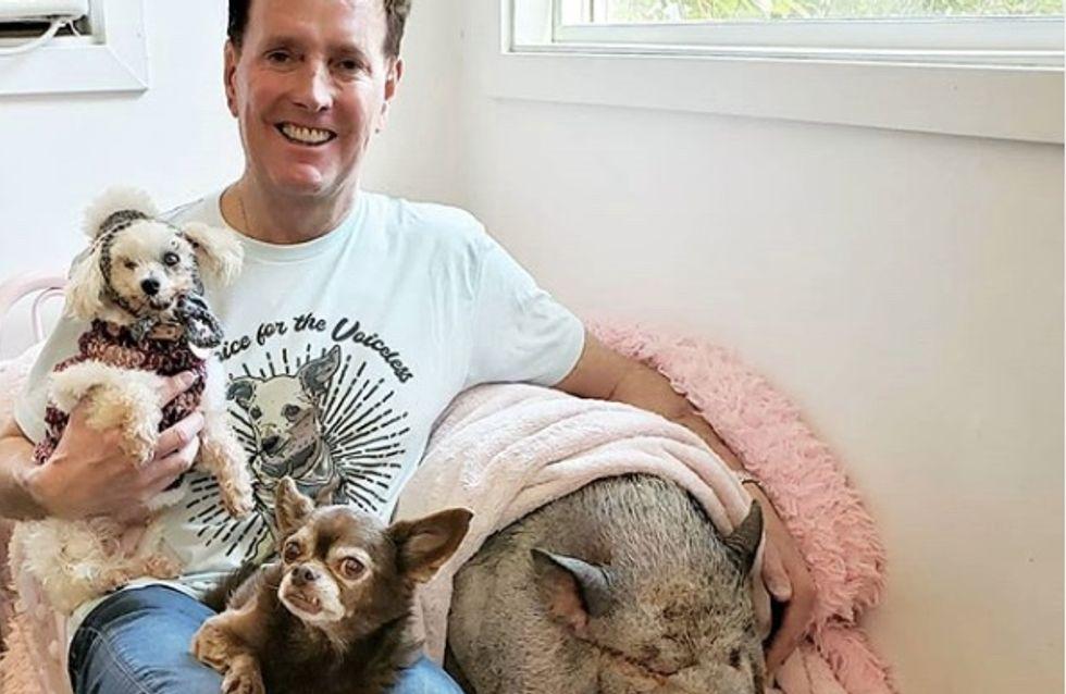 Il a fait de sa maison un véritable refuge pour les animaux dont personne ne veut