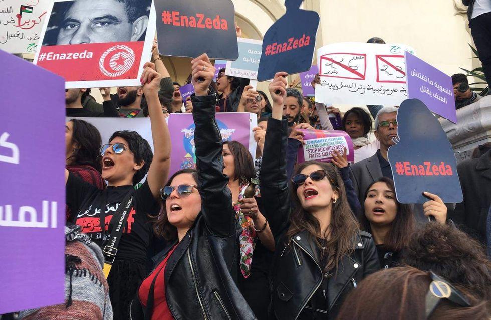Munies de balais, les Tunisiennes veulent nettoyer le pays de la violence faite aux femmes
