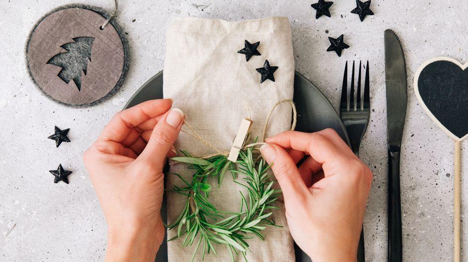 So wird's festlich: Weihnachtliche Tischdeko selber basteln