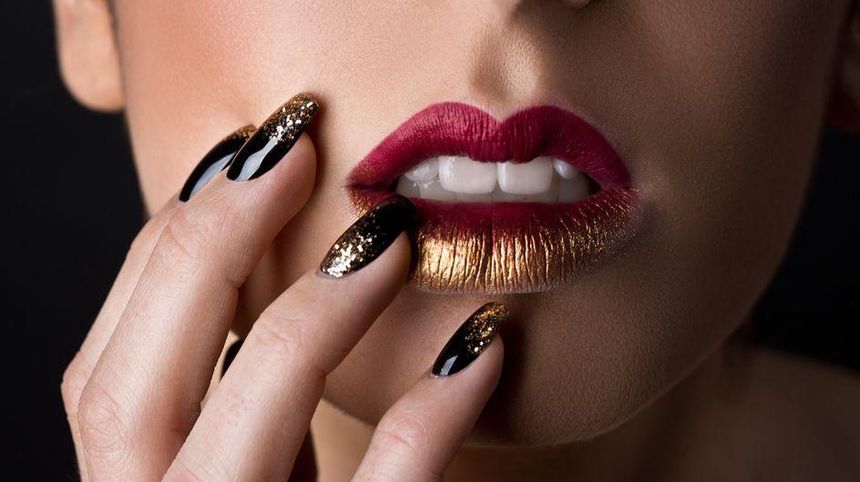 Rosso e oro: il make-up delle feste è audace e prezioso
