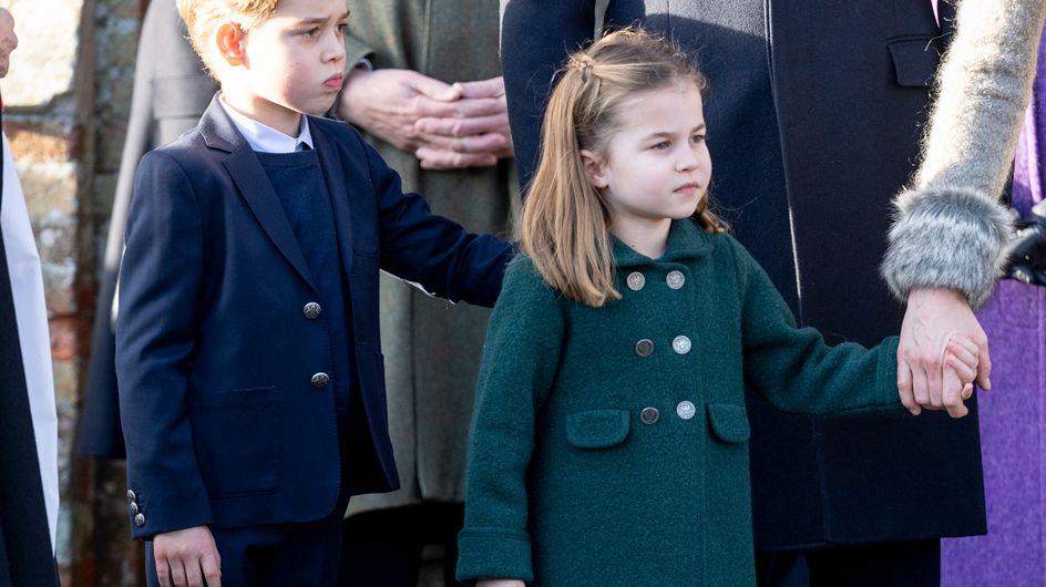 Le prince George et la princesse Charlotte adorables à leur première messe de Noël
