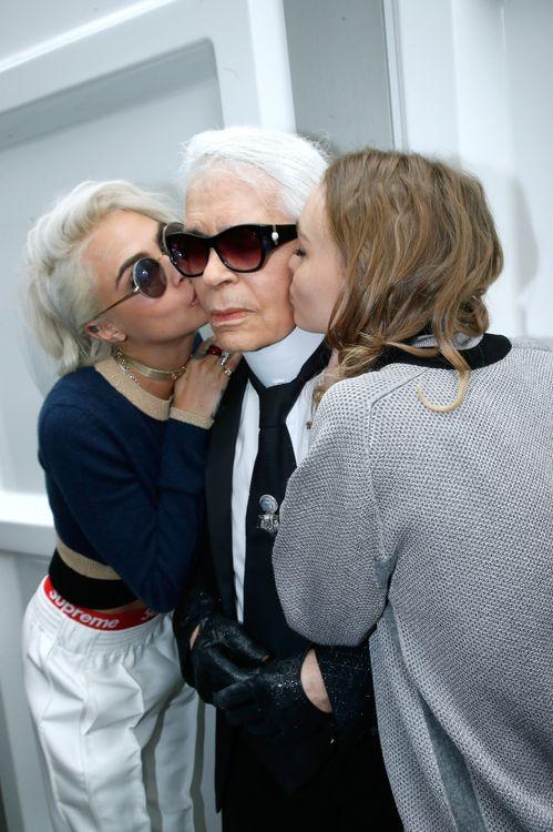 Karl Lagerfeld, Cara Delevingne et Lily-Rose Depp