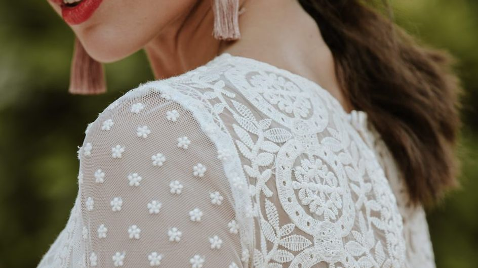 30 bordados florales que son espectaculares para tu look de novia