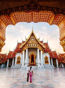Le temple Wat Benchama Bophit à Bangkok