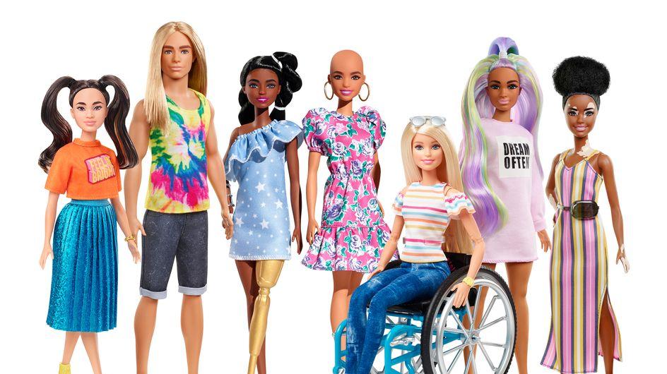 Poupées chauves, atteintes de vitiligo… Barbie® fait la part belle à la diversité avec sa nouvelle gamme