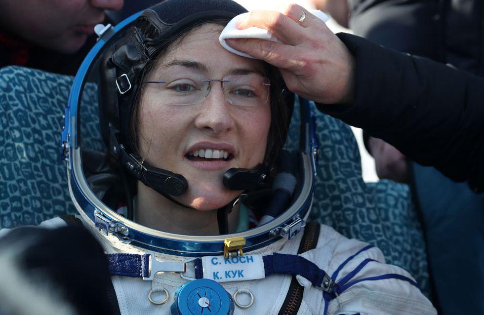 Christina Koch establece el récord femenino de tiempo en el espacio