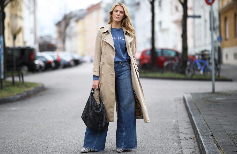 Wide Leg Jeans kombinieren: So stylen wir die weiten Hosen