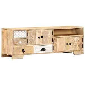 Mueble de madera maciza reciclada de estilo retro