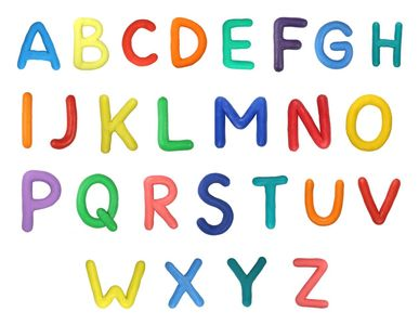 Alphabet en pâte à modeler