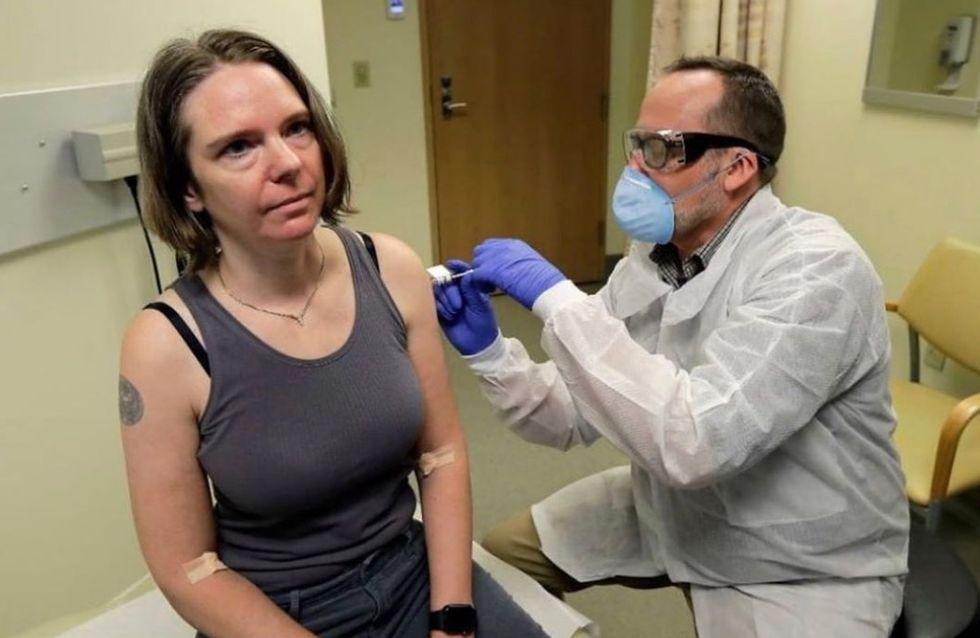 Cette femme est la première volontaire à tester un vaccin contre le Covid-19