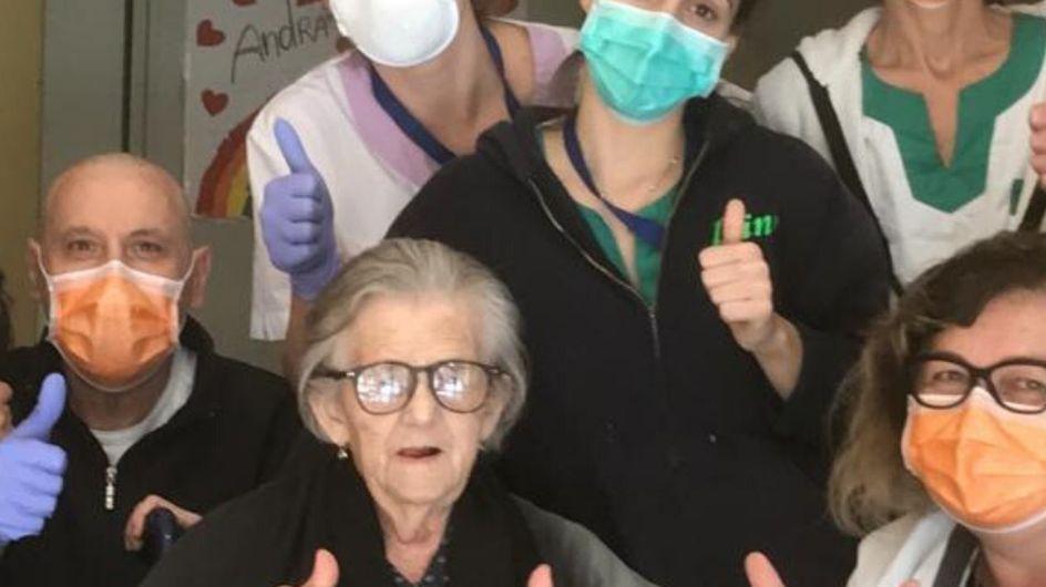 #Lazonarosa: Nonna Alma guarisce dal Coronavirus a 95 anni