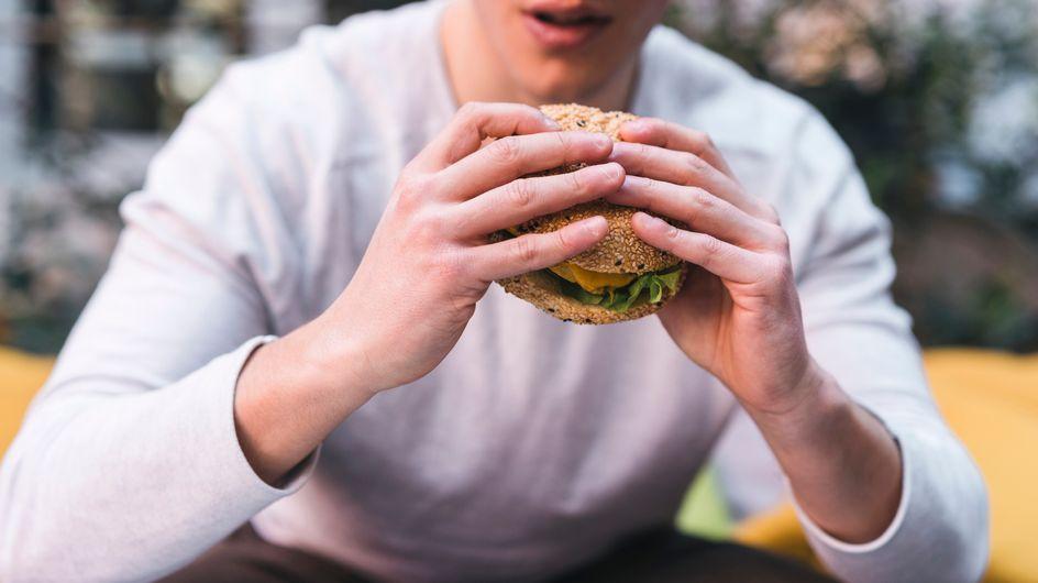 Hamburguesa de berenjena con pan casero