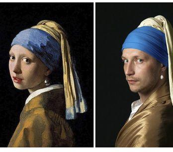 Confinement : Les Russes créent des versions vivantes d'œuvres d'art