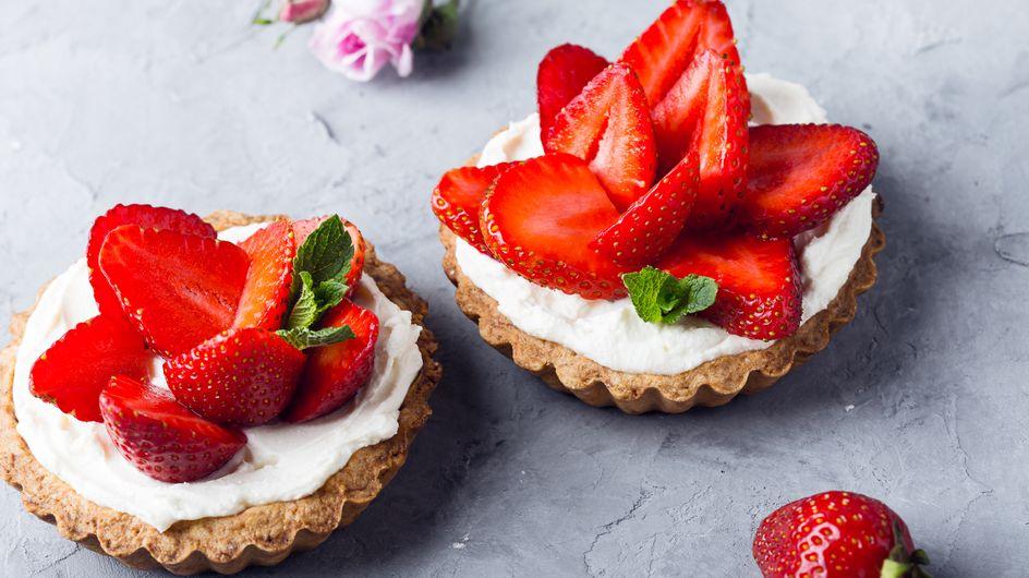 Erdbeerkuchen mit Mascarpone: Rezept für Tartelettes