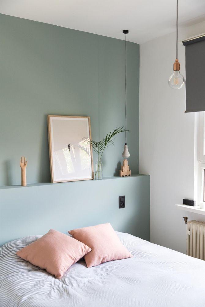 Une chambre vert sauge