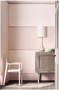 Une chambre rose pâle