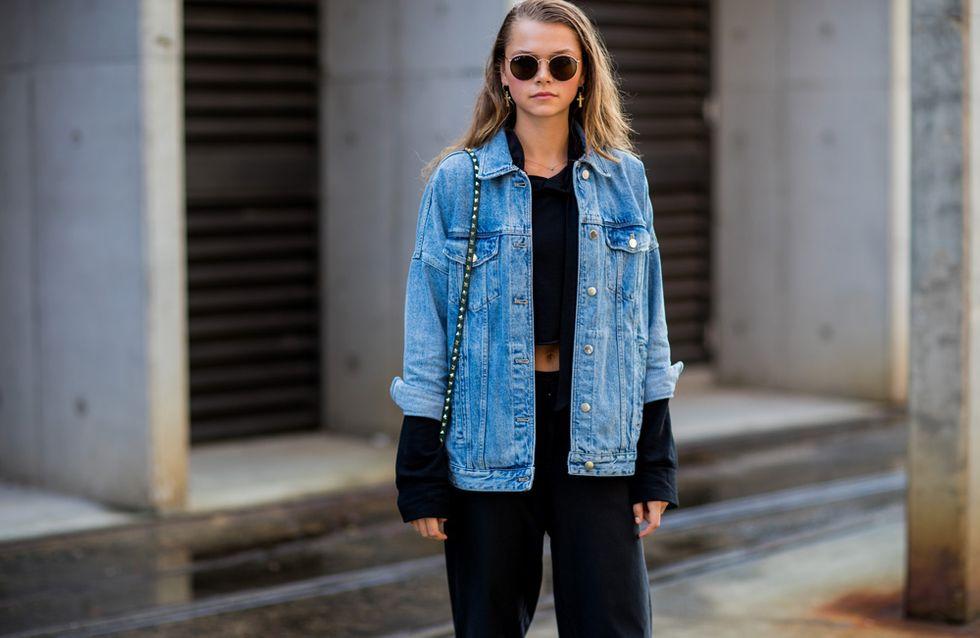 helle jeans jacke kombinieren