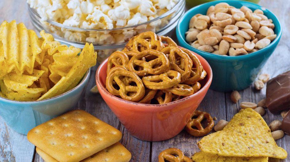 Snacks calóricos: cantidad de calorías de los alimentos para picar