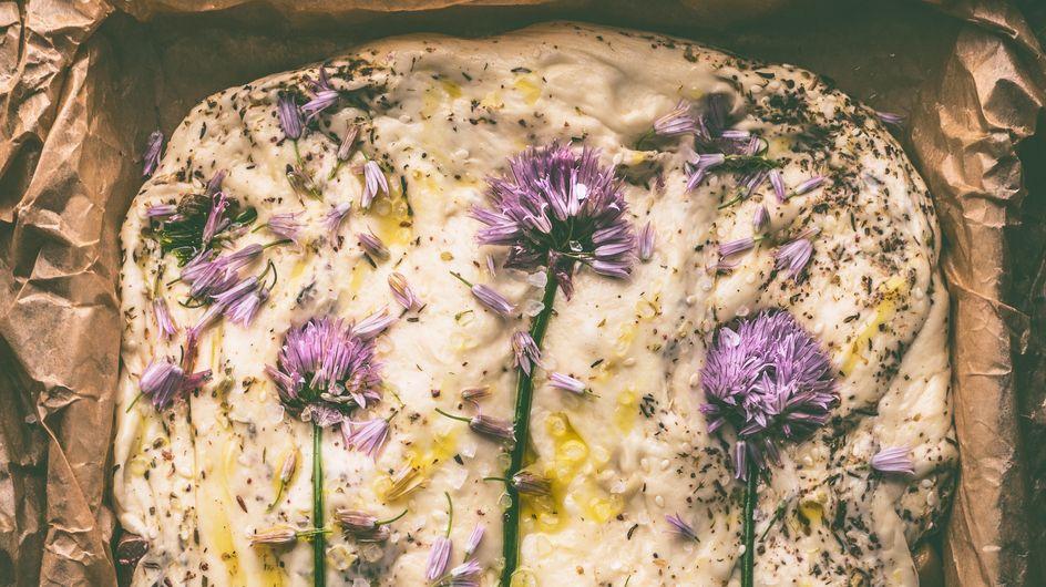 Flower Focaccia: So backt ihr das blumige Fladenbrot