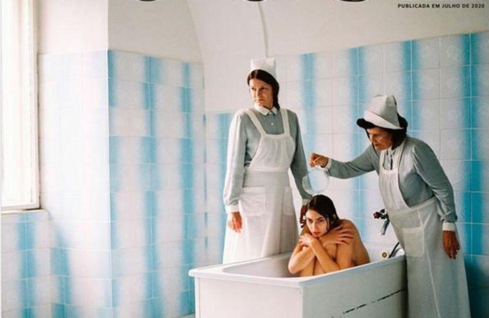 Vogue fait polémique avec sa Une dans un hôpital psychiatrique