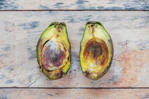 Punkte braune avocado hat Avocado hat