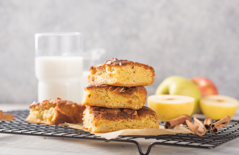 Apfelkuchen vom Blech mit Karamell: Weltbestes Rezept