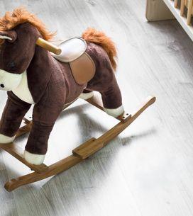 Soldes jouets à bascule : -46% sur le cheval à bascule Hucoco