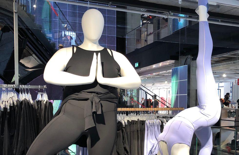 Nike installe des mannequins inclusifs dans sa boutique des Champs-Elysées