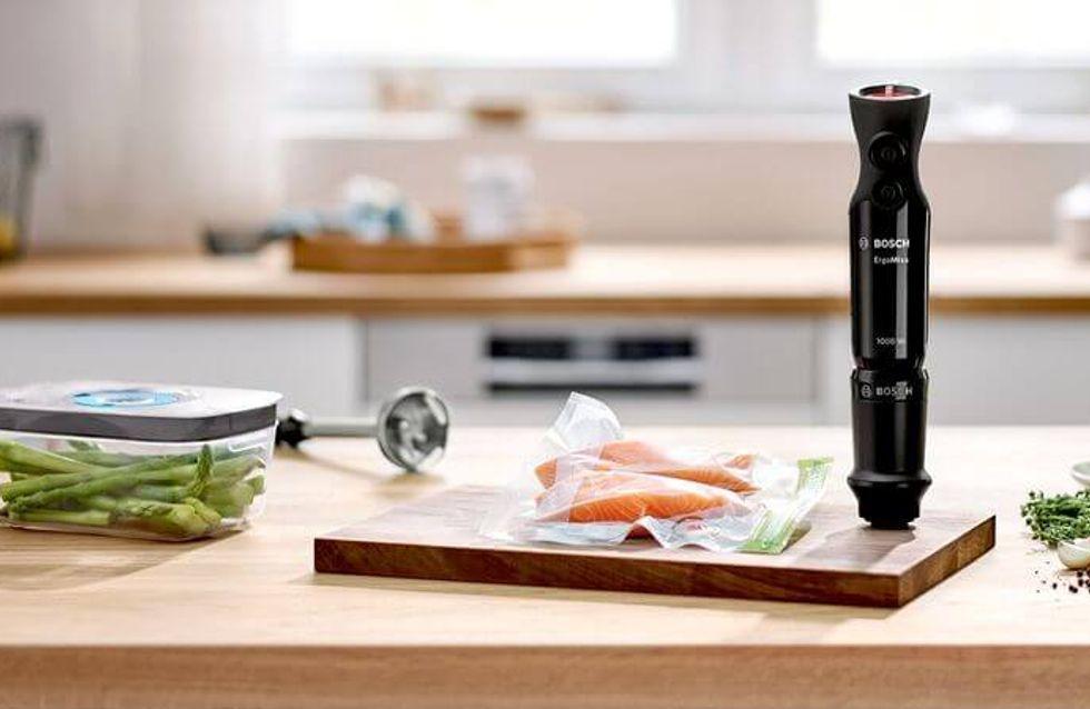 Promo cuisine : -40% sur le mixeur plongeant Bosh 2-en-1 avec mise sous vide