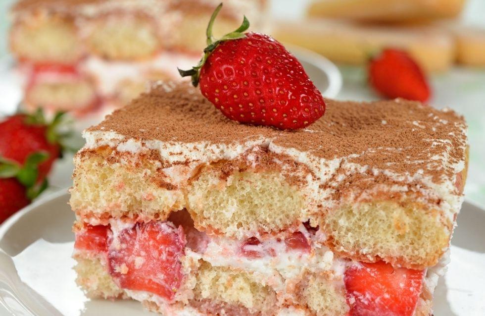 Marre du tiramisu tradi ? Passe au tiramisu à la fraise !