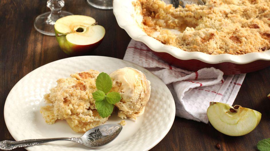 Apfel-Auflauf: Super einfaches Rezept mit Streuseln