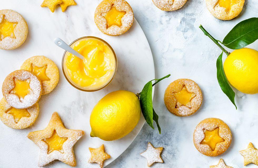Zitronenplätzchen: Rezept mit selbstgemachtem Lemon Curd