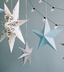 Weihnachtsstern basteln: Anleitung für 3D-Sterne aus Papier