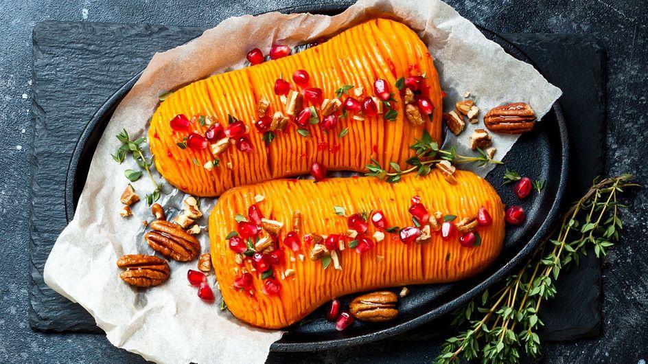 Hasselback-Kürbis: Vegetarisches Rezept für Weihnachten