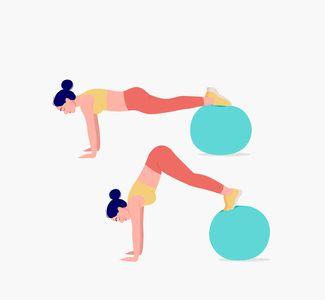 Exercice ventre plat avec un Swiss Ball