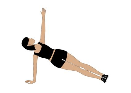 Exercice ventre plat : la planche latérale
