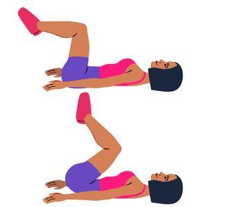 Exercice ventre plat : le crunch  inversé ou reverse crunch