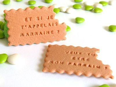 Biscuit Parrain Marraine