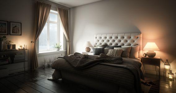 come arredare una camera da letto: luci