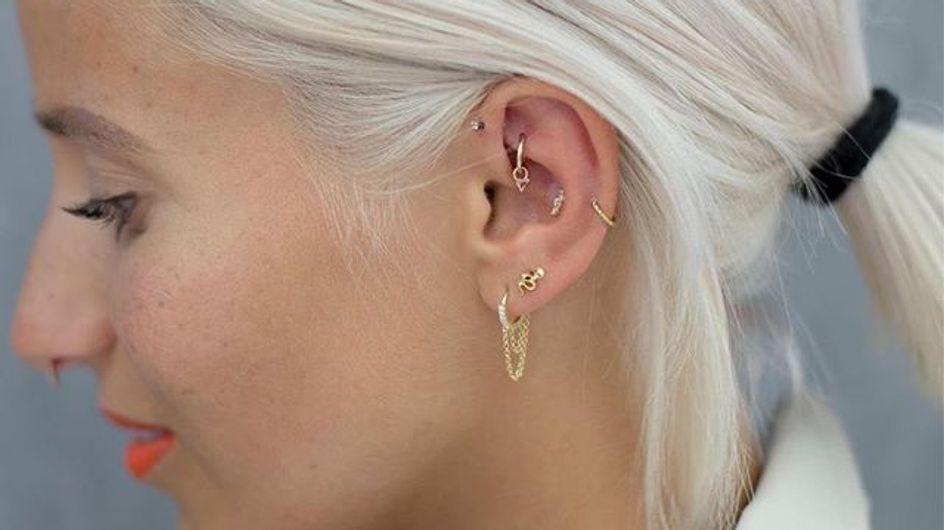 Le piercing rook s'impose comme le bijou d'oreille tendance du moment