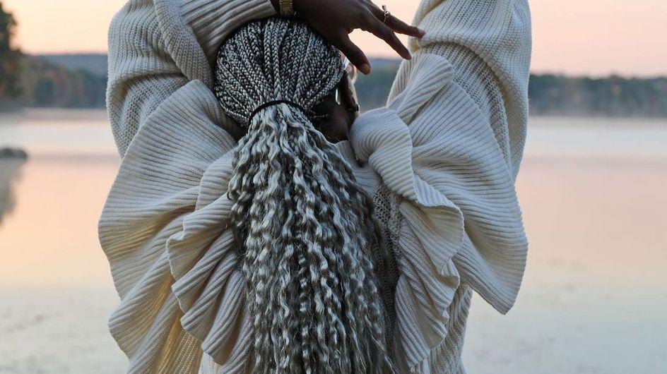8 photos qui prouvent que les tresses sont parfaites pour sublimer ses cheveux gris